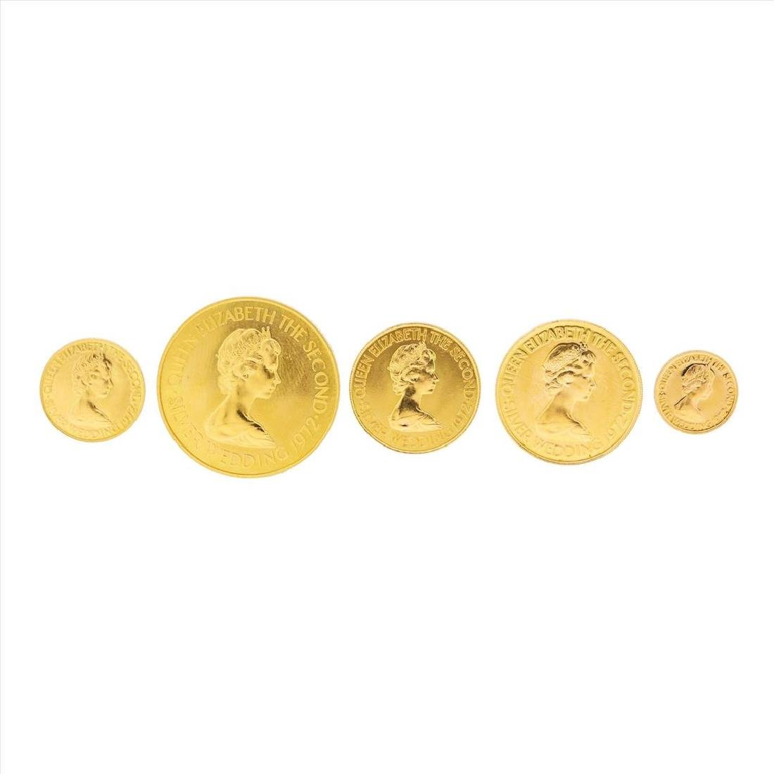 Set of (5) 1972 Bailiwick of Jersey Gold Coins