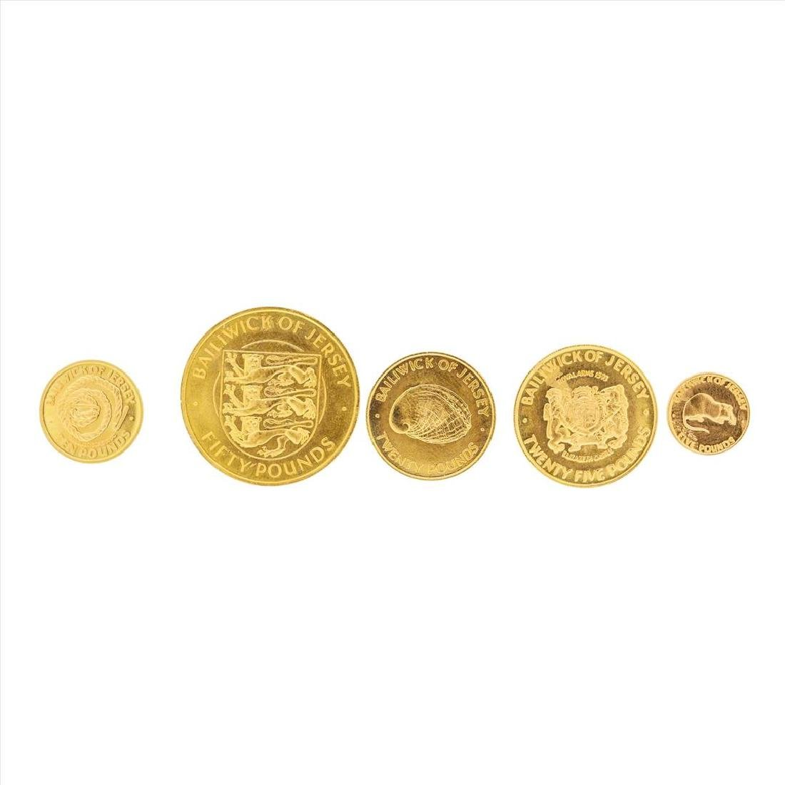 Set of (5) 1972 Bailiwick of Jersey Gold Coins - 2