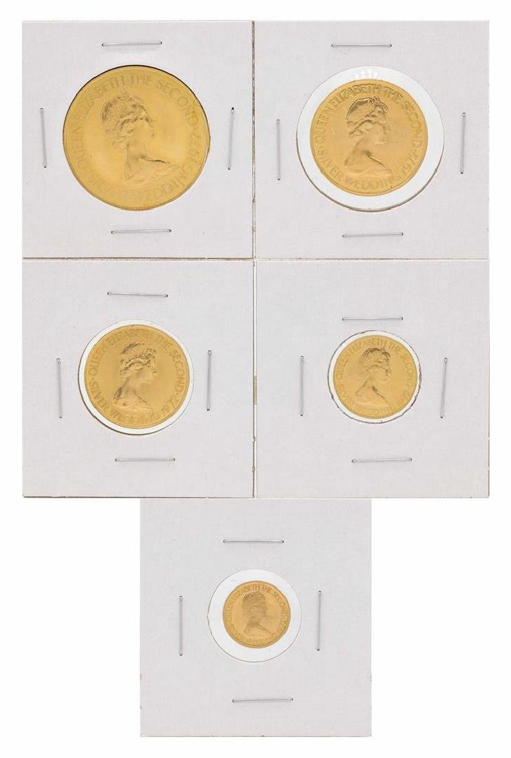 Set of (5) 1972 Bailiwick of Jersey Gold Coins - 3