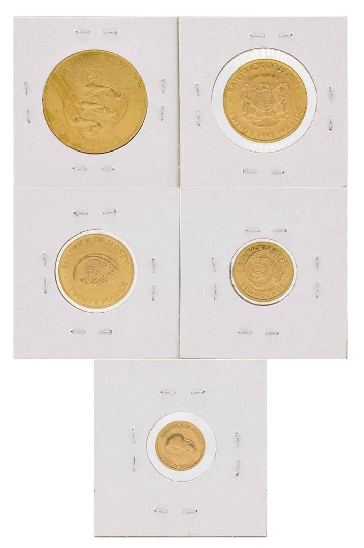 Set of (5) 1972 Bailiwick of Jersey Gold Coins - 4