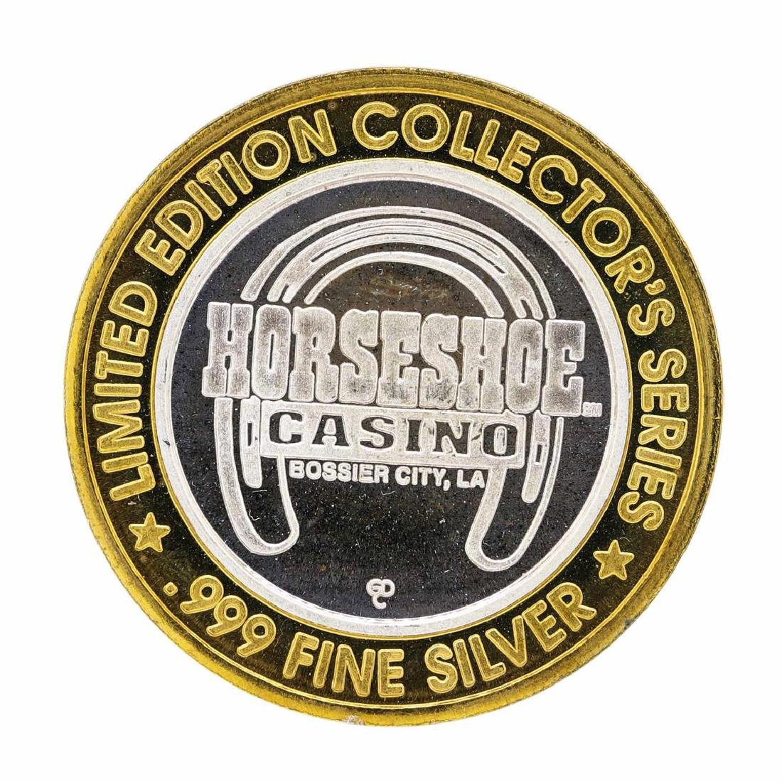 .999 Silver Horseshoe Bossier City, LA $10 Casino - 2