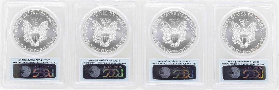 Lot of (4) 2013-W $1 American Silver Eagle Coins PCGS - 2