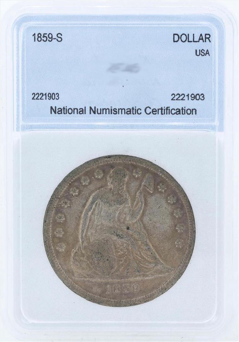 1859-S $1 Liberty Seated Liberty Dollar