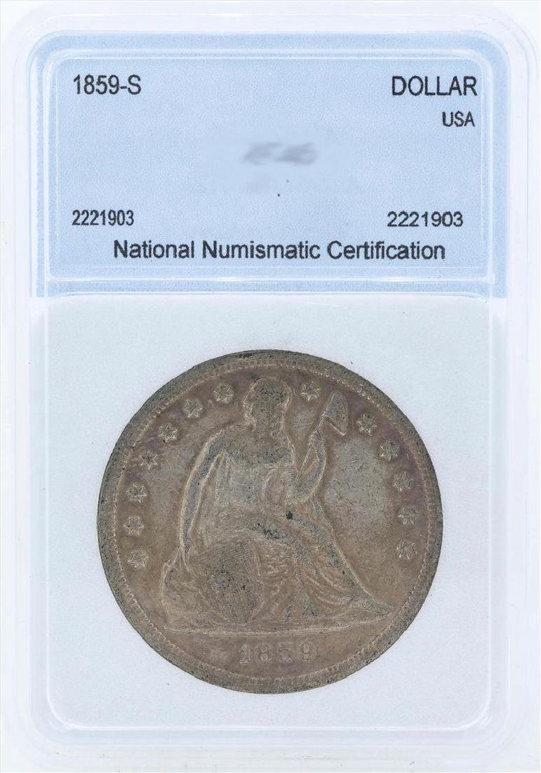 1859-S $1 Liberty Seated Liberty Dollar