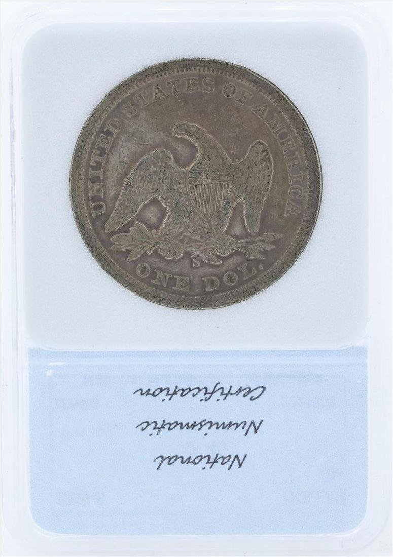 1859-S $1 Liberty Seated Liberty Dollar - 2