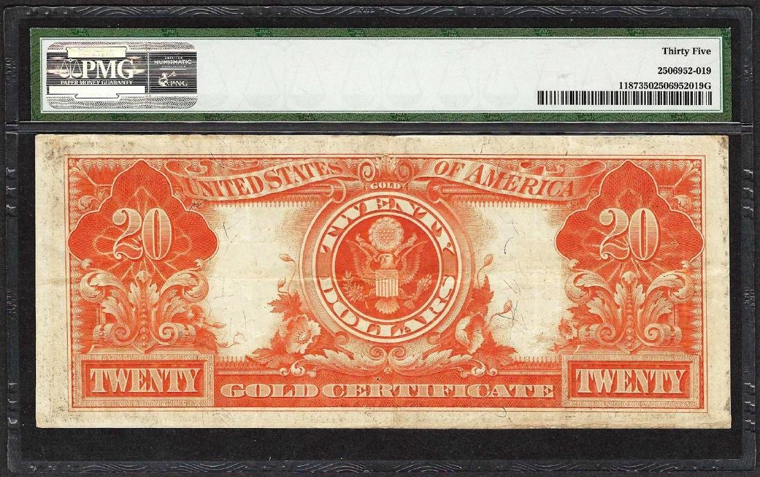 1922 $20 Gold Certificate Note Fr.1187 PMG Choice Very - 2
