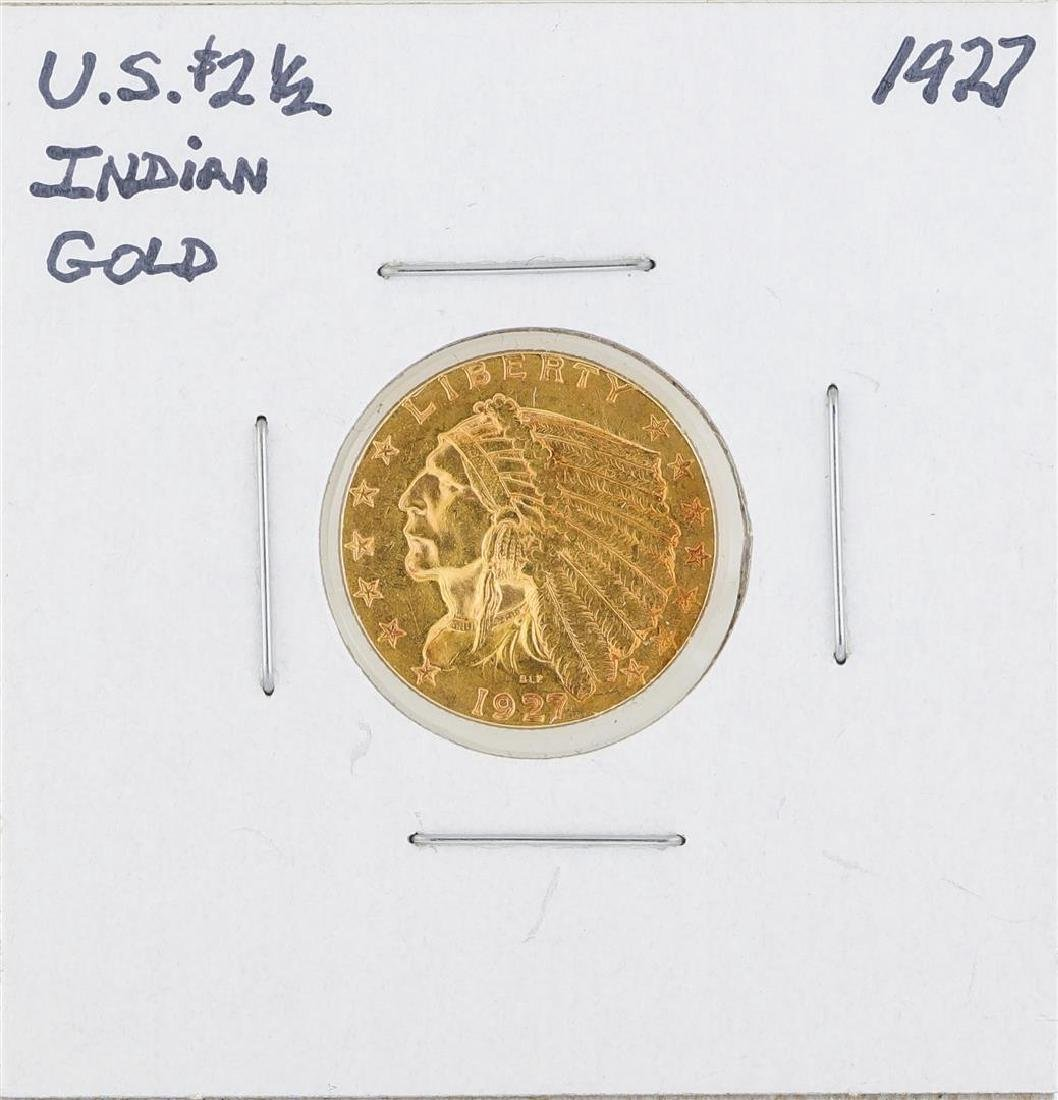 1927 $2.50 Indian Head Quarter Eagle Gold Coin