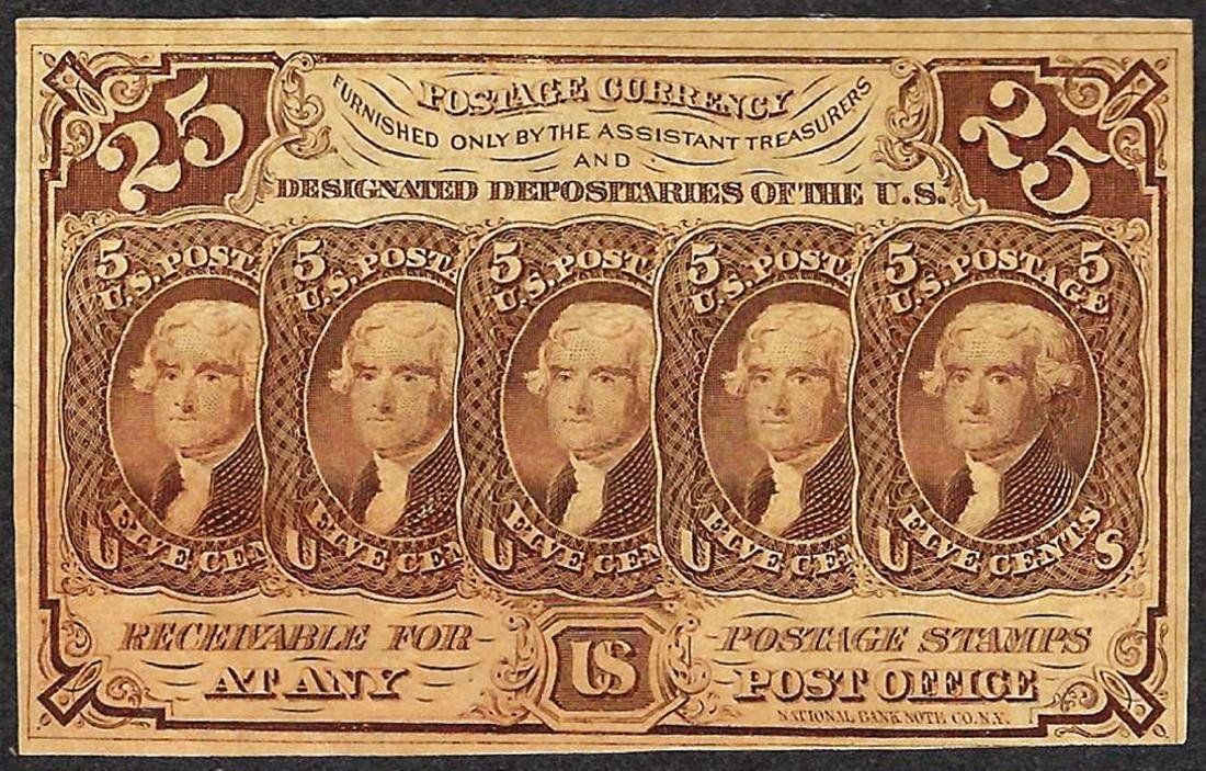 July 17, 1862 Twenty-Five Cents First Issue Fractional