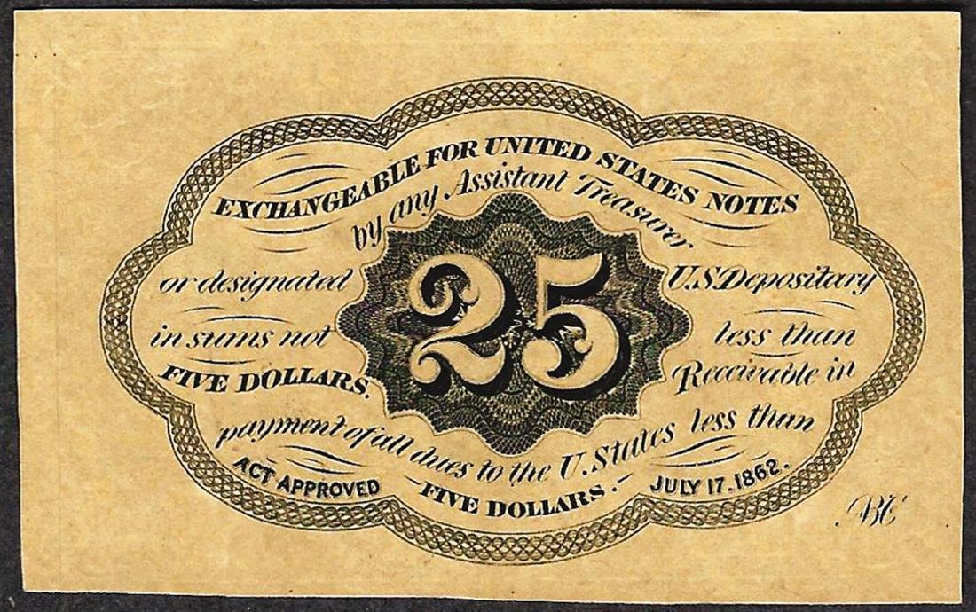 July 17, 1862 Twenty-Five Cents First Issue Fractional - 2