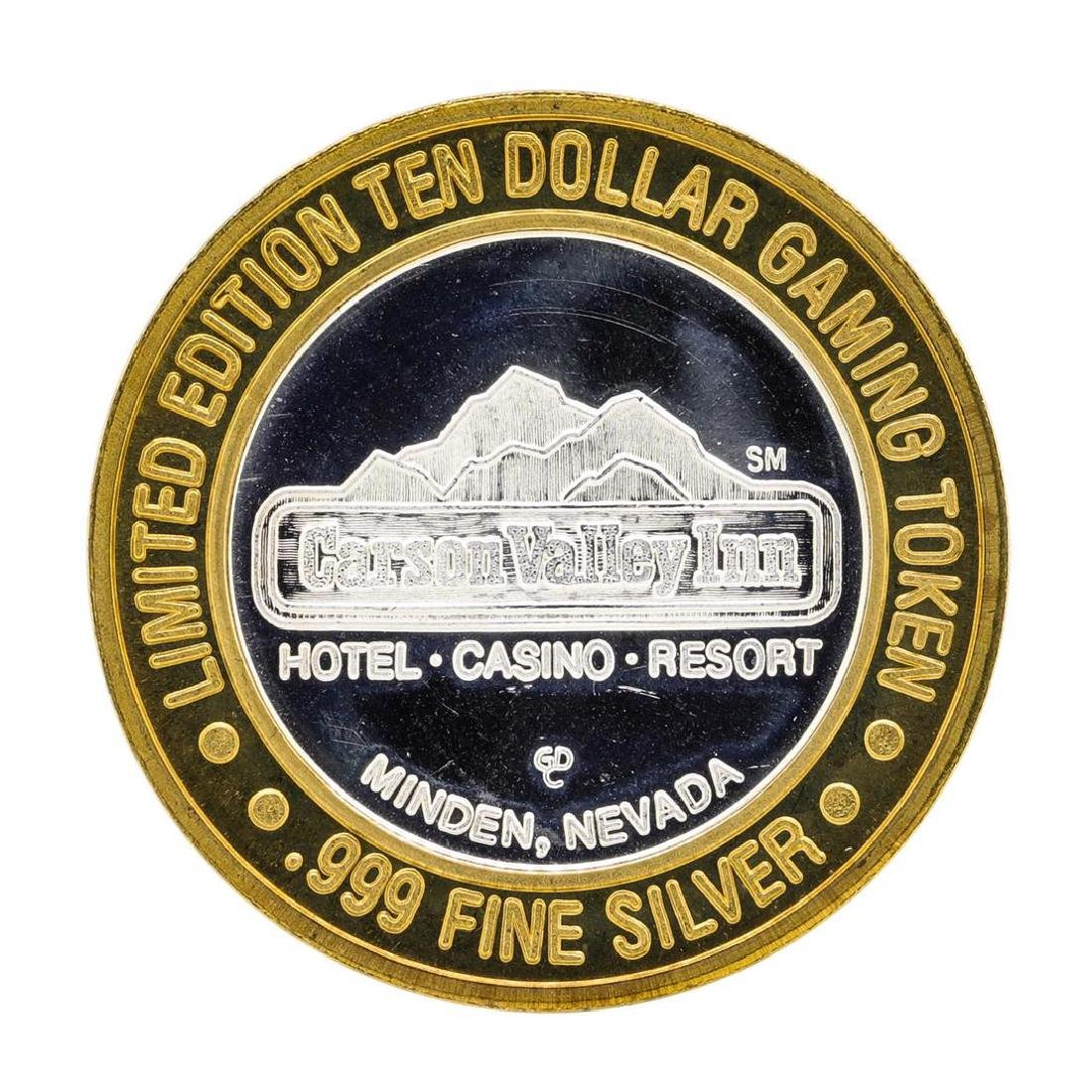 .999 Silver Carson Valley Inn Minden, NV $10 Limited - 2