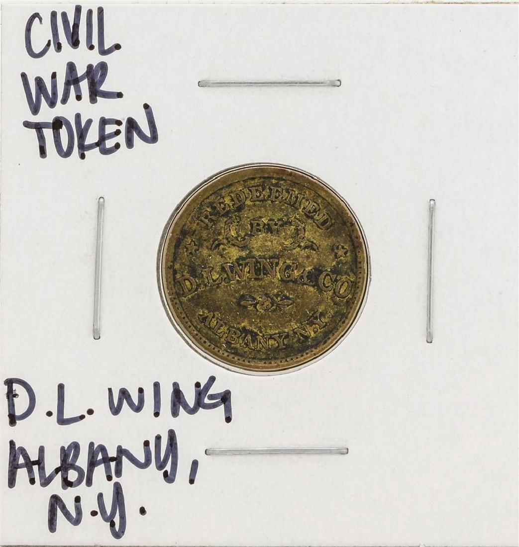 1863 Civil War Token D.L. Wing Albany New York