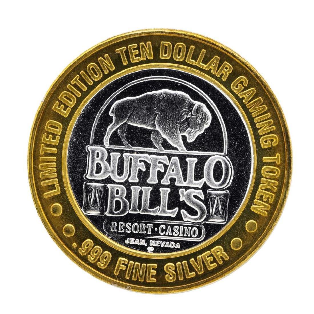 .999 Silver Buffalo Bills Resort & Casino $10 Limited - 2