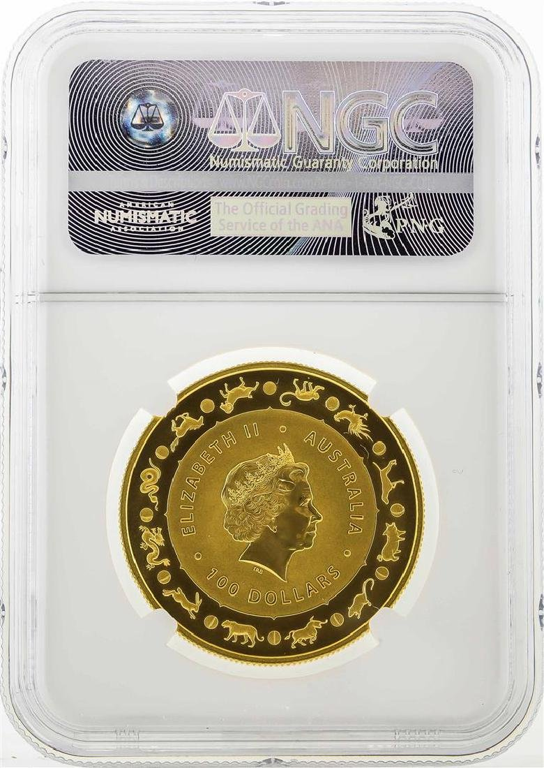 2016 Australia $100 Year of the Monkey Gold Coin NGC - 2