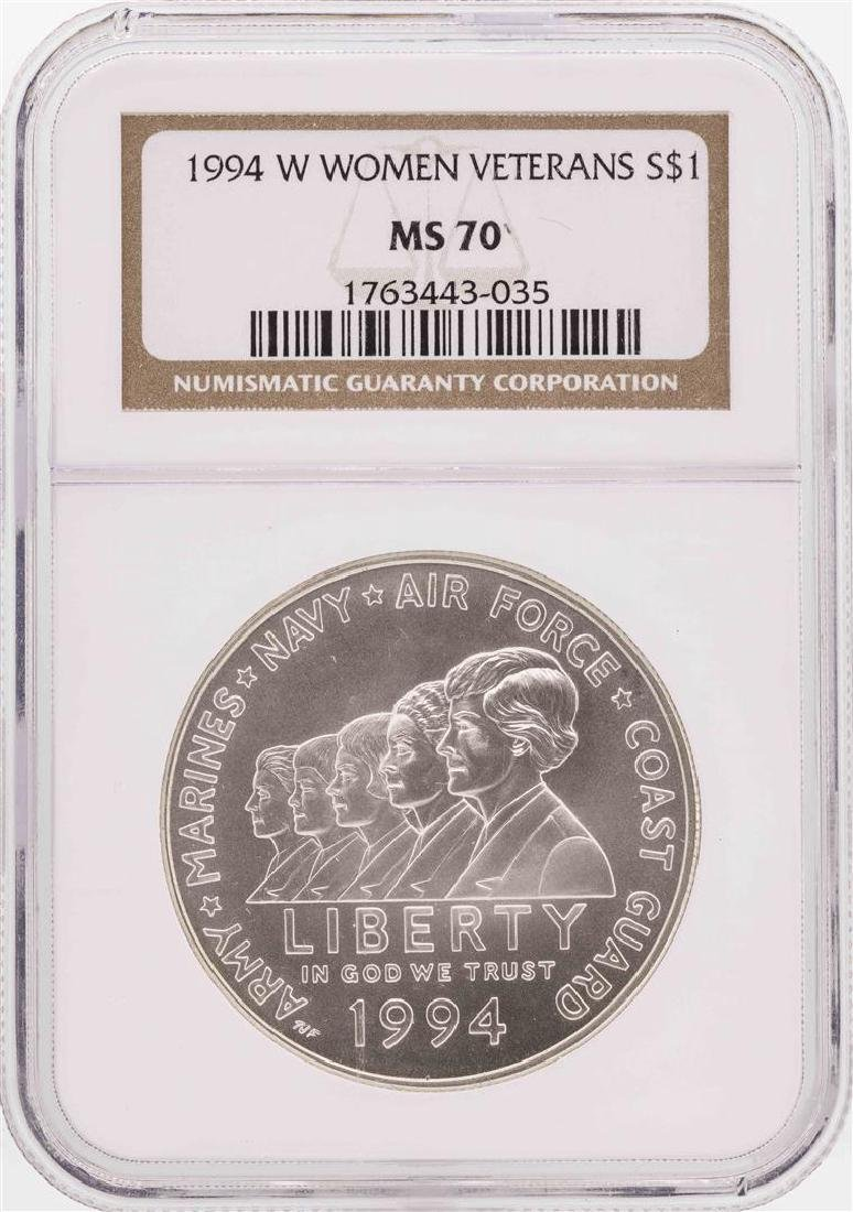 1994-W $1 Women Veterans Commemorative Silver Dollar