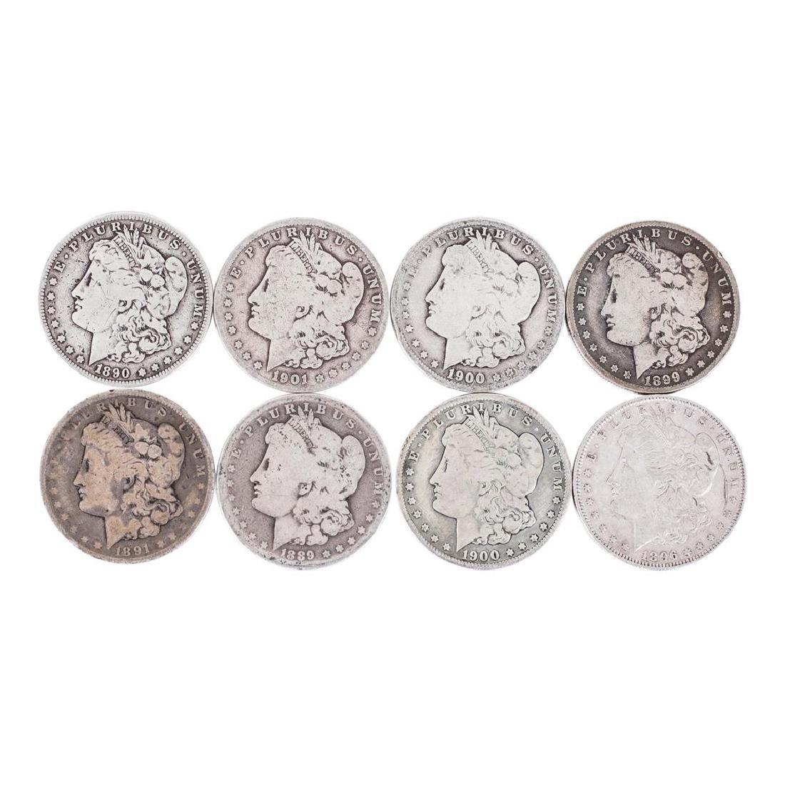 Lot of (8) Pre 1921 $1 Morgan Silver Dollar Coins