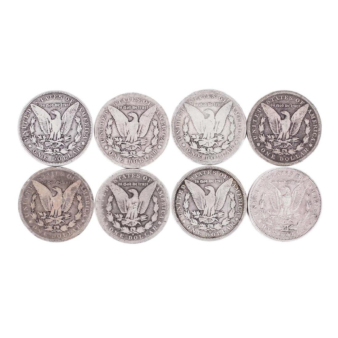 Lot of (8) Pre 1921 $1 Morgan Silver Dollar Coins - 2