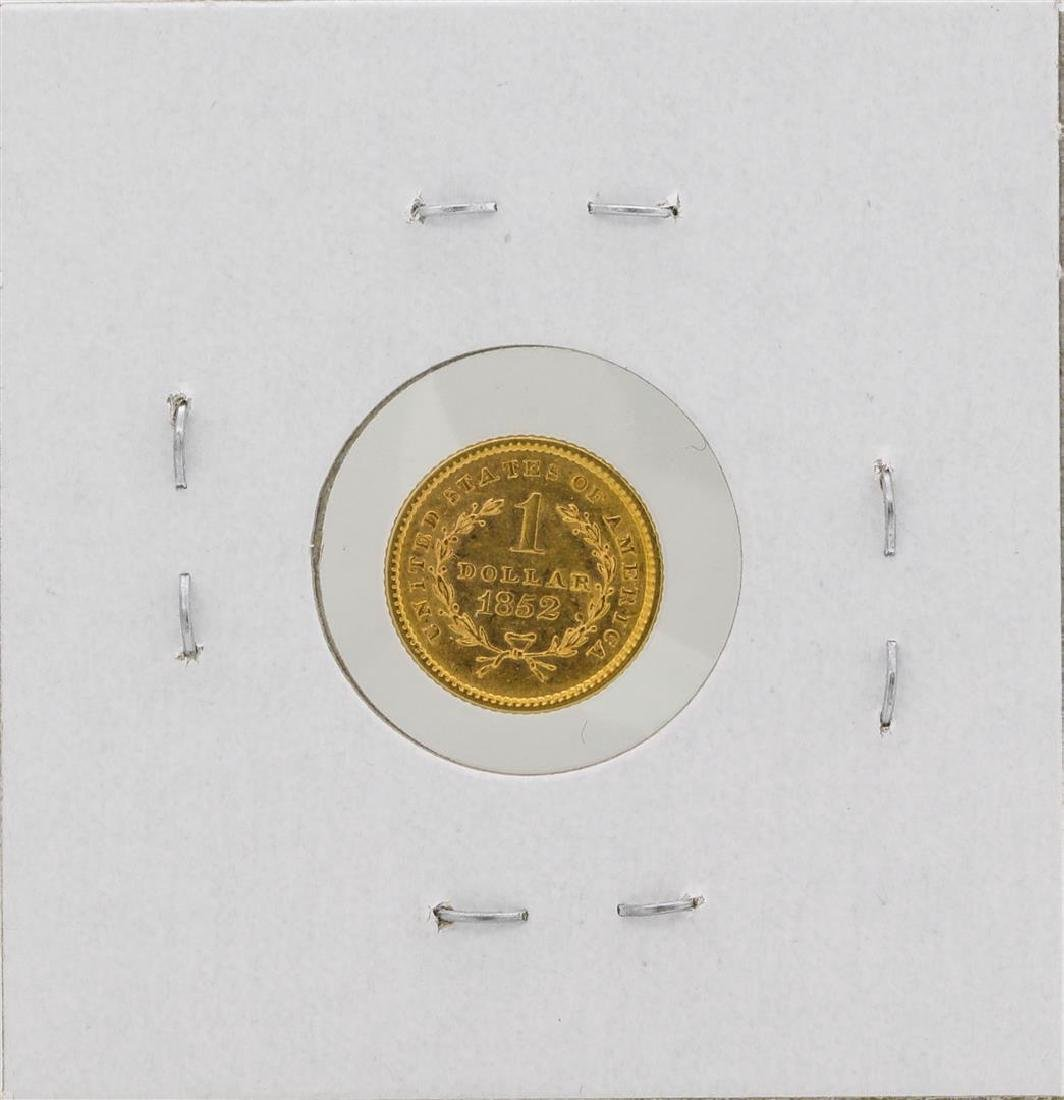 1852 $1 Liberty Head Dollar Gold Coin - 2