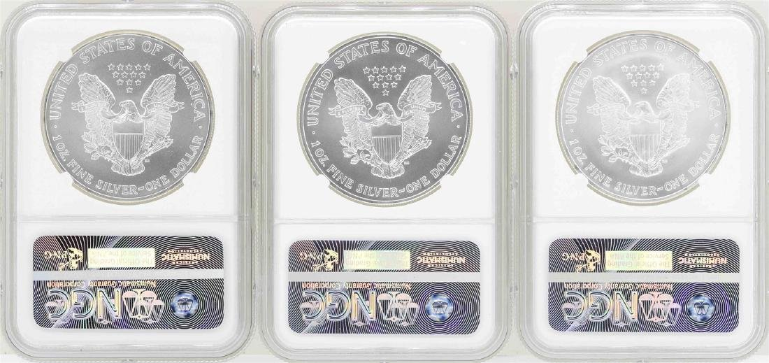 Lot of 2004-2006 $1 American Silver Eagle Coins NGC - 2