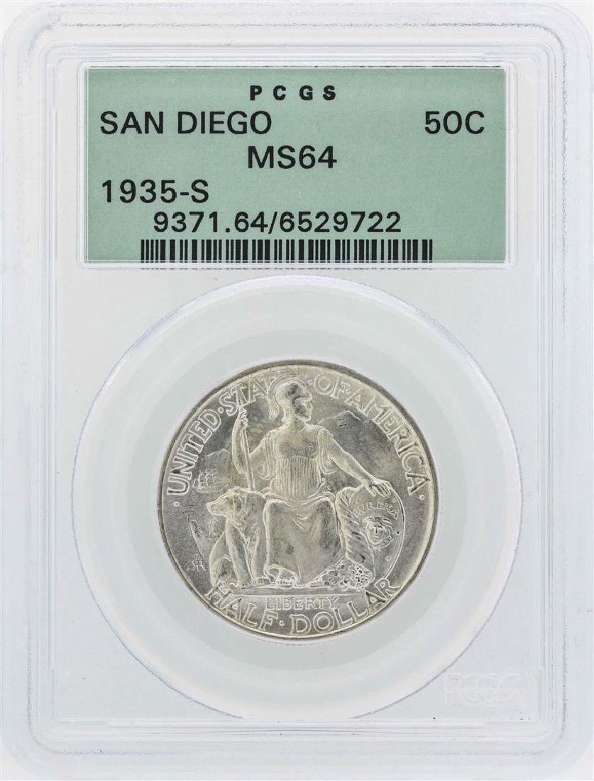 1935-S San Diego Commemorative Half Dollar Coin PCGS