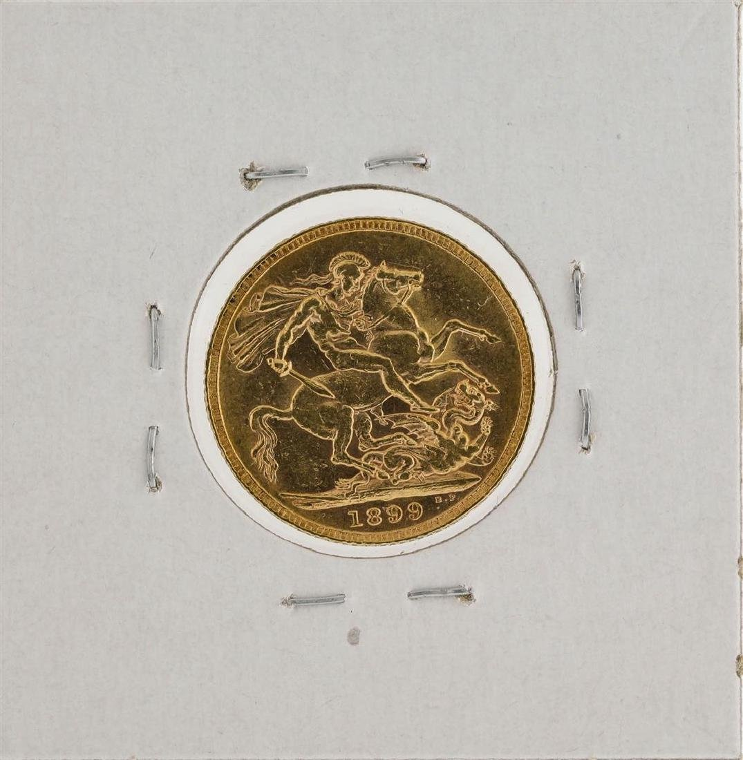 1899 Great Britain Sovereign Gold Coin - 2