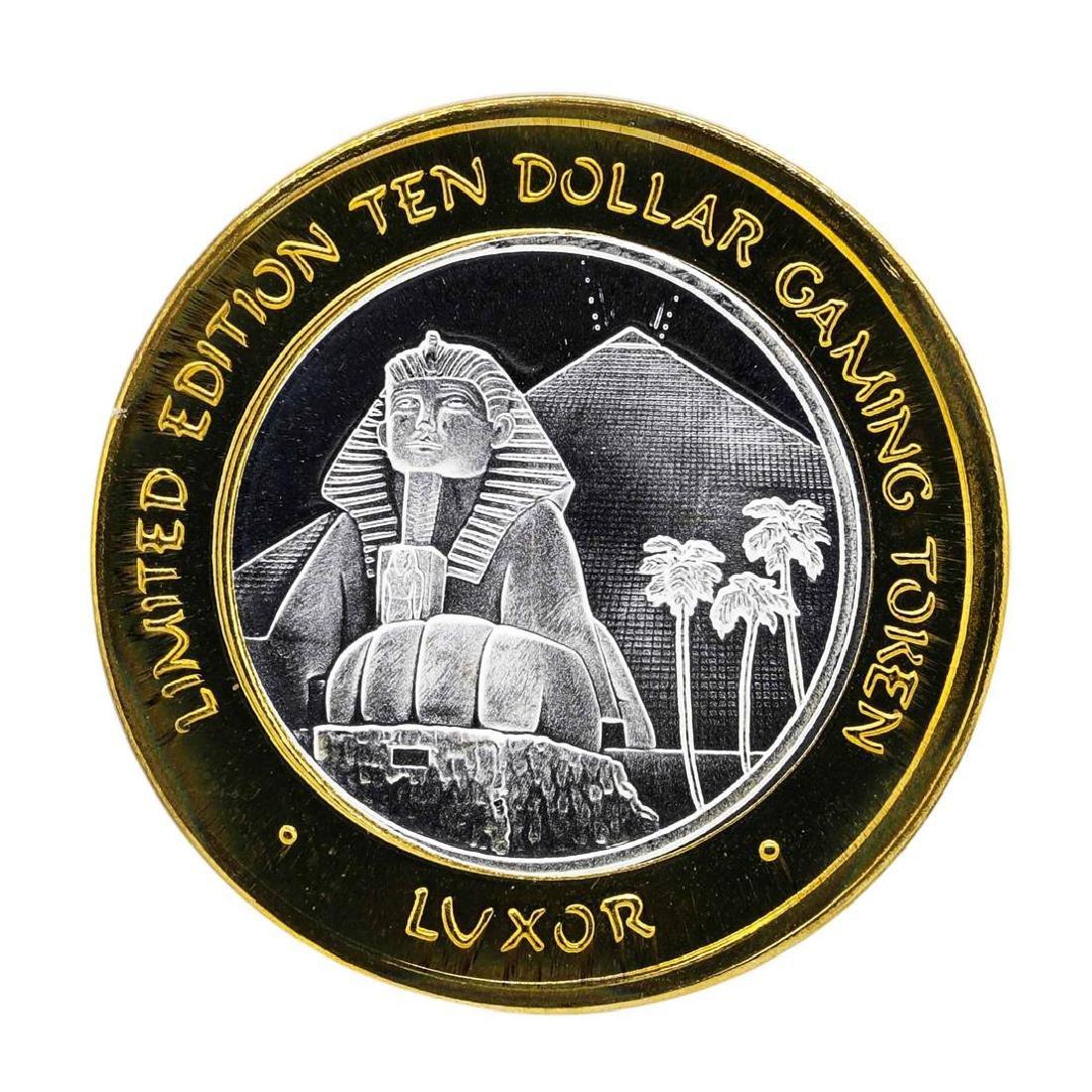 .999 Silver Luxor Las Vegas Nevada $10 Casino Limited