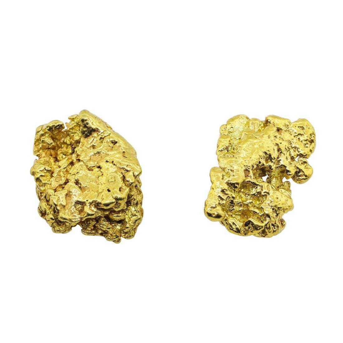 Lot of (2) Gold Nuggets 2.2 grams Total Weight - 2