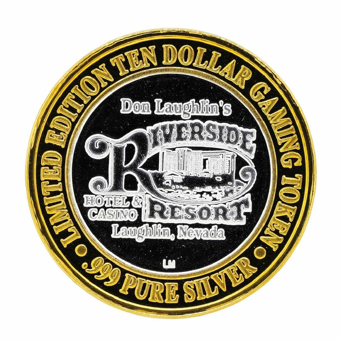 .999 Silver Riverside Resort Hotel & Casino $10 Casino