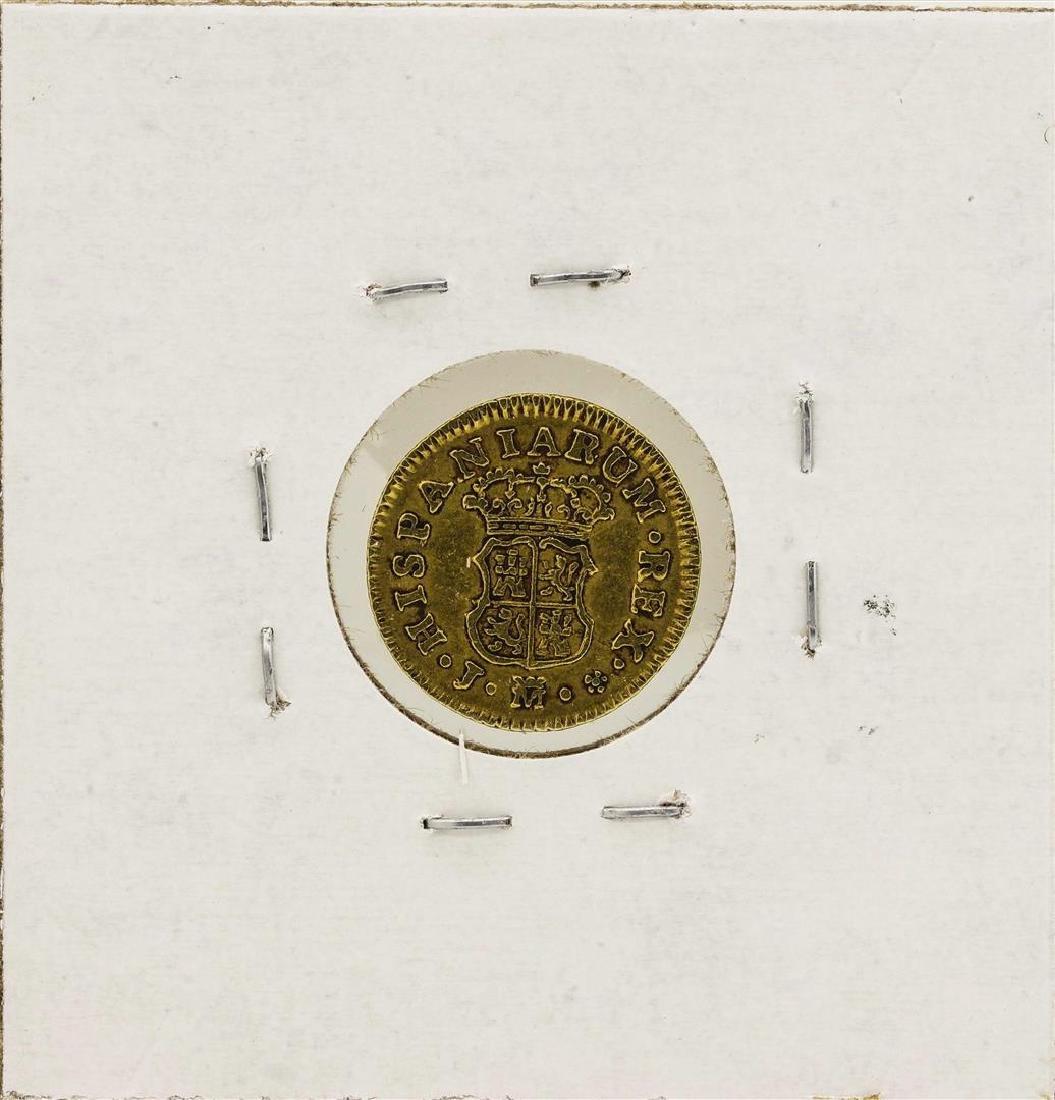 1759 Ferdinand VI Spanish 1/2 Escudos Gold Coin - 2