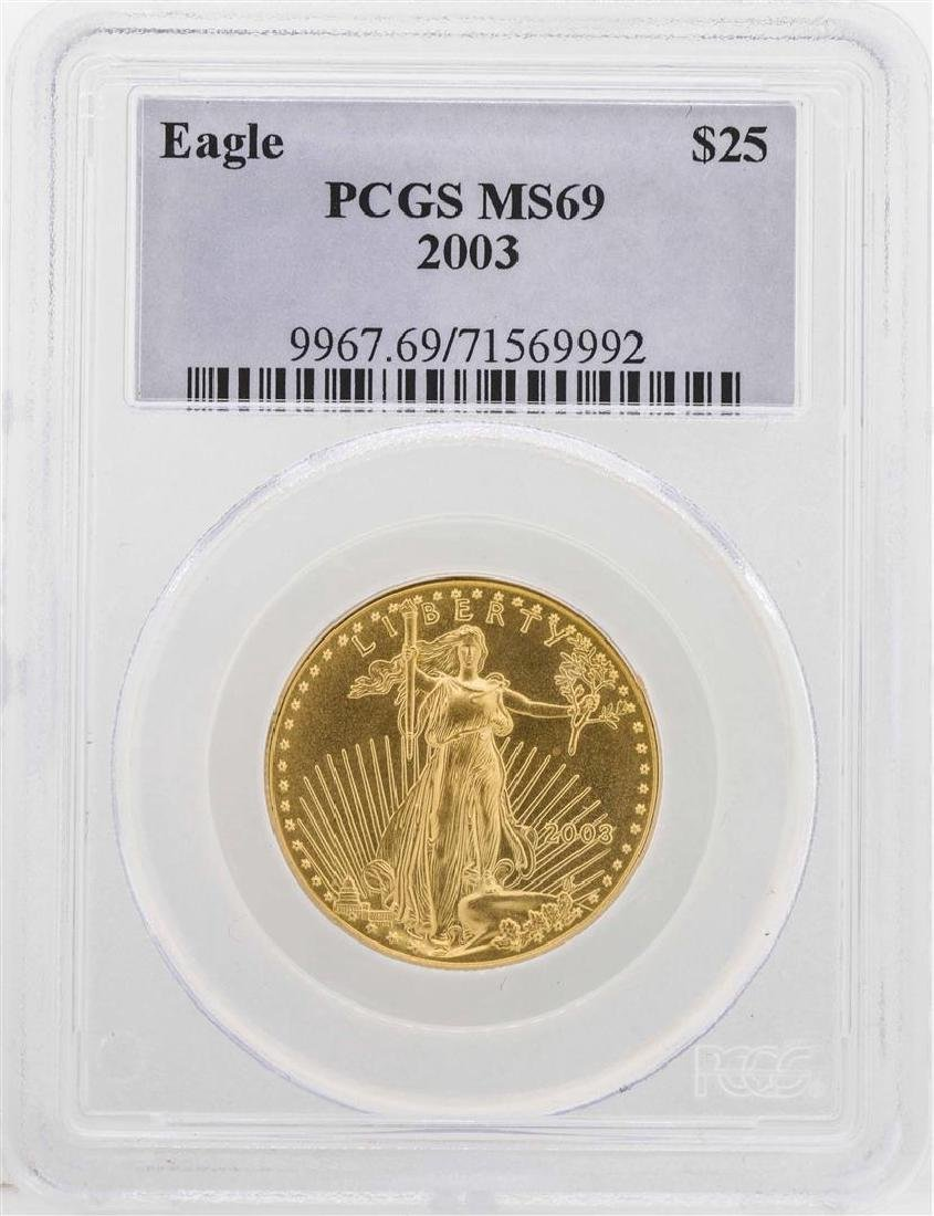2003 $25 American Gold Eagle Coin PCGS MS69