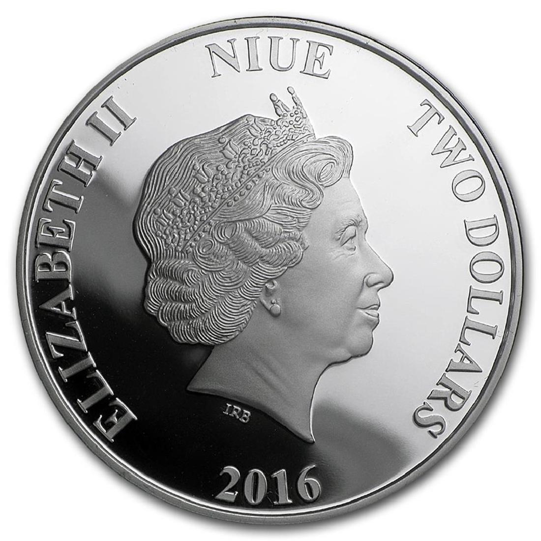2016 $2 Disney Alice In Wonderland .999 Fine Silver - 2