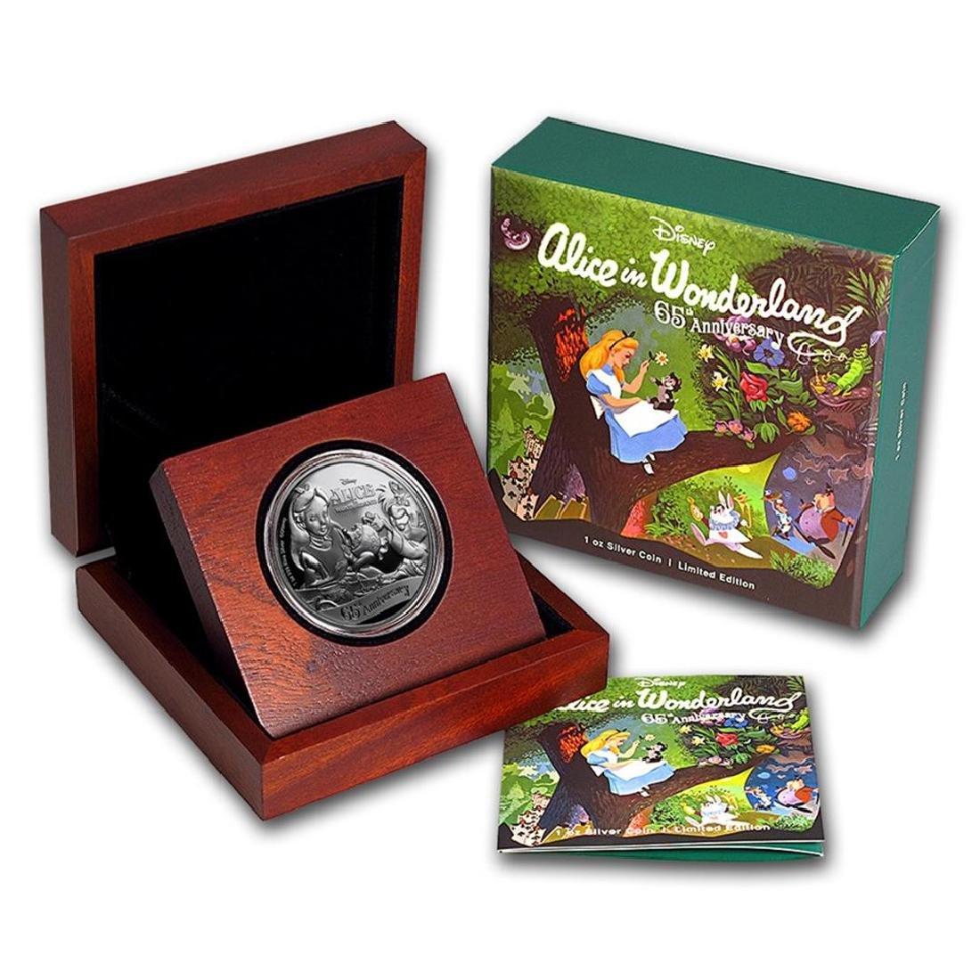 2016 $2 Disney Alice In Wonderland .999 Fine Silver - 3