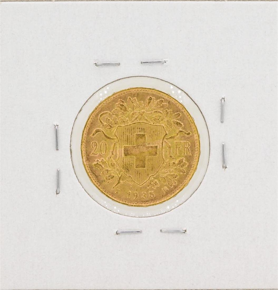 1935 Switzerland 20 Francs Gold Coin - 2