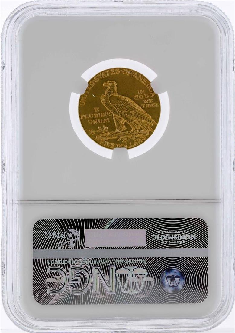 1912 $5 Indian Head Half Eagle Gold Coin NGC AU55 - 2