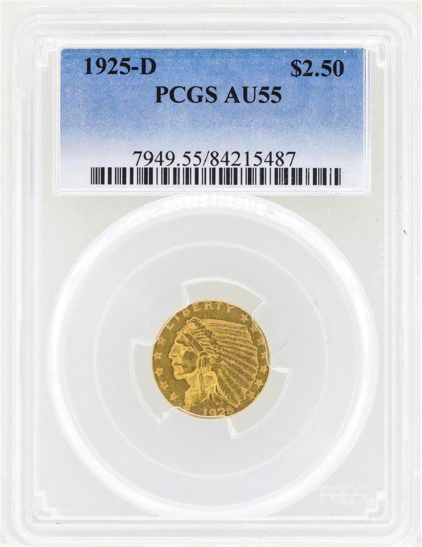 1925-D $2 1/2 Indian Head Quarter Eagle Gold Coin PCGS