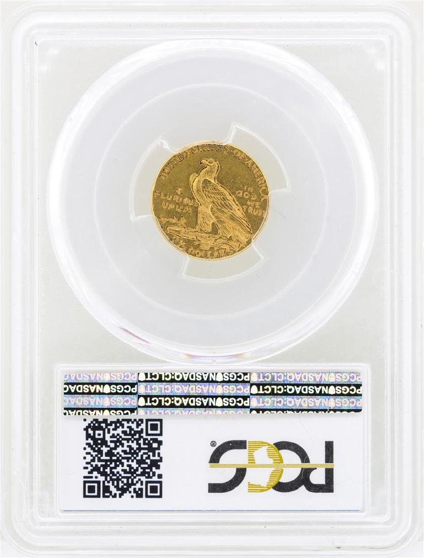 1925-D $2 1/2 Indian Head Quarter Eagle Gold Coin PCGS - 2