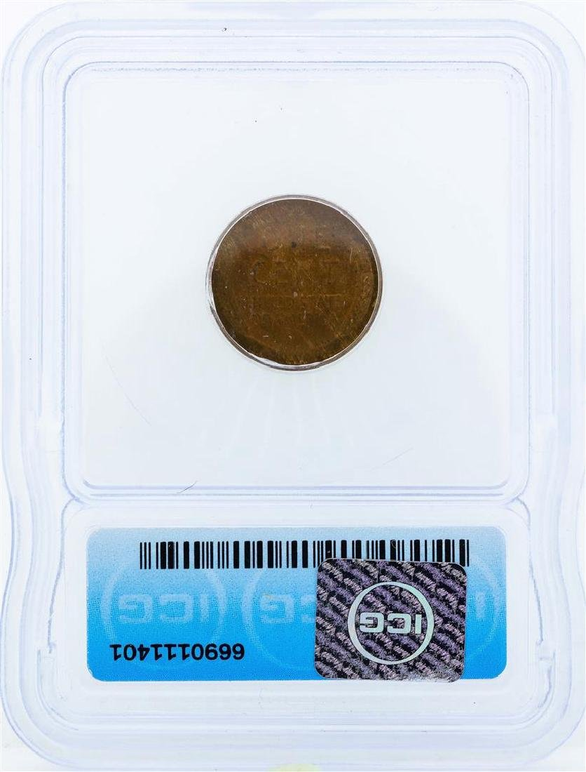 1918 Lincoln Wheat Penny ICG MS62RB - 2