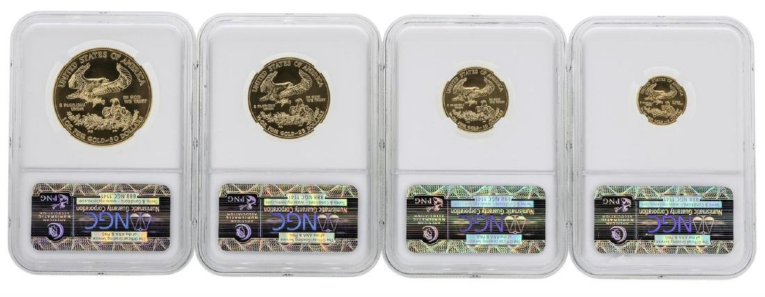 2013 American Gold Eagle Set NGC MS70 Early Releases - 2