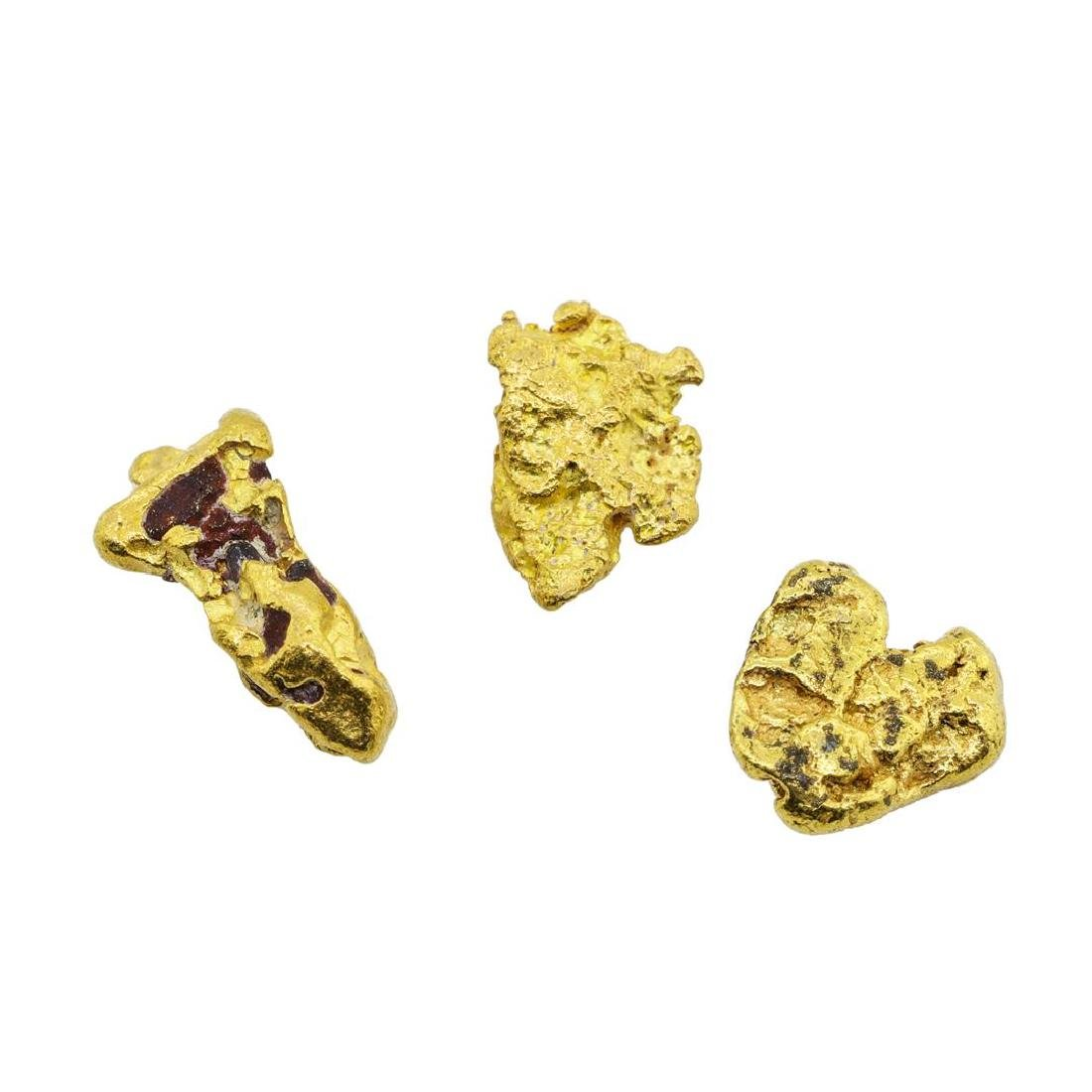 Lot of (3) Gold Nuggets 1.9 grams Total Weight