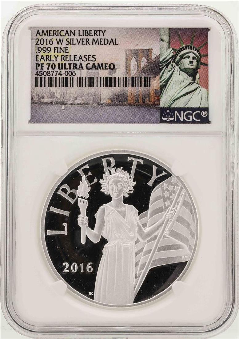 2016-W American Liberty Silver Medal PF70 Ultra Cameo