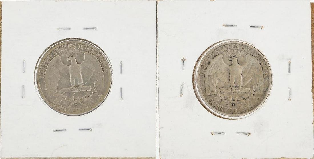Lot of (2) 1932-D and 1932-S Washington Quarter Coins - 2