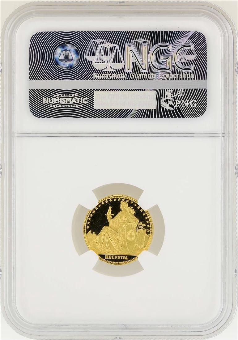 1986-AH Switzerland 1/10 oz Eternal Pact Gold Coin NGC - 2