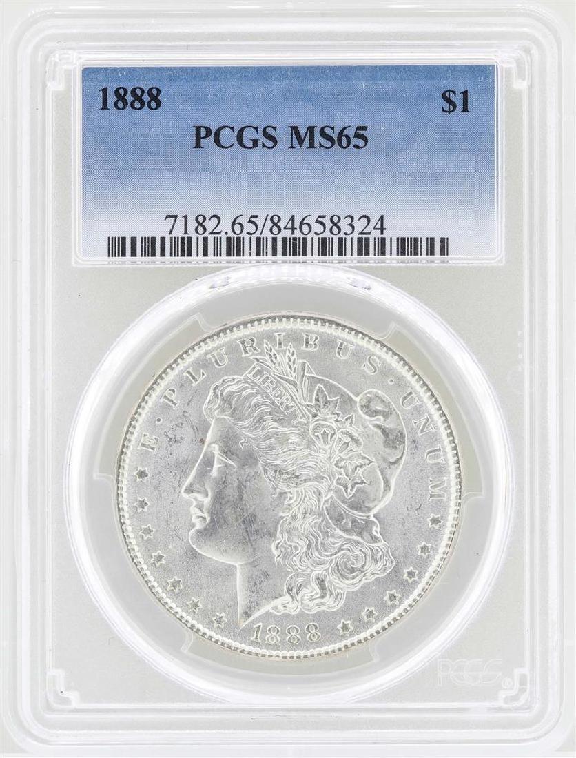 1888 $1 Morgan Silver Dollar Coin PCGS MS65