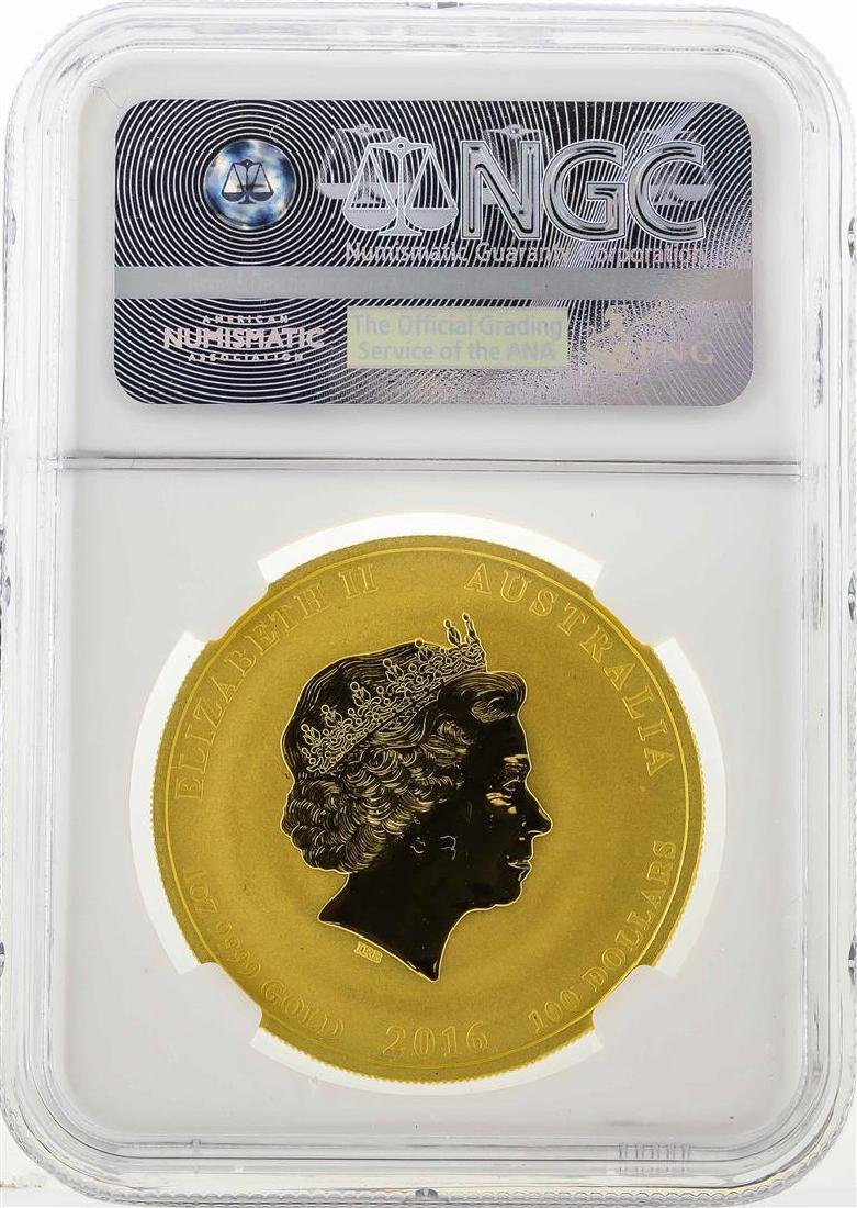 2016P Australia $100 Year of the Monkey Gold Coin NGC - 2