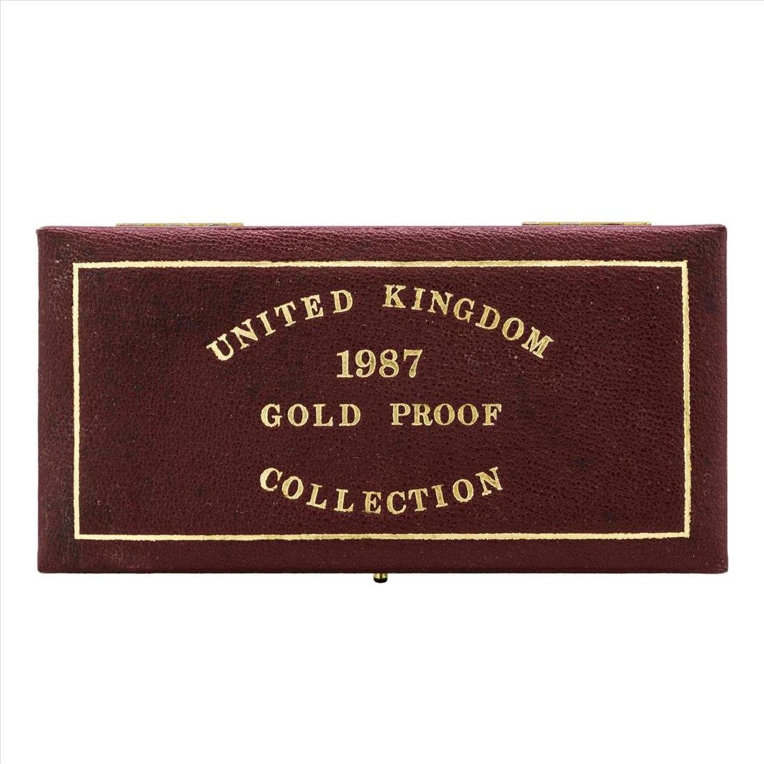 Set of (3) 1987 United Kingdom Gold Proof Coins - 4
