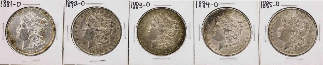 Set of 1881-O to 1885-O $1 Morgan Silver Dollar Coins