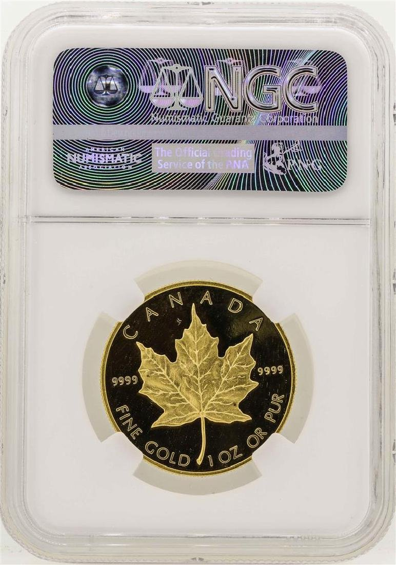1989 Canada $50 Maple Leaf Gold Coin NGC PF68 Ultra - 2