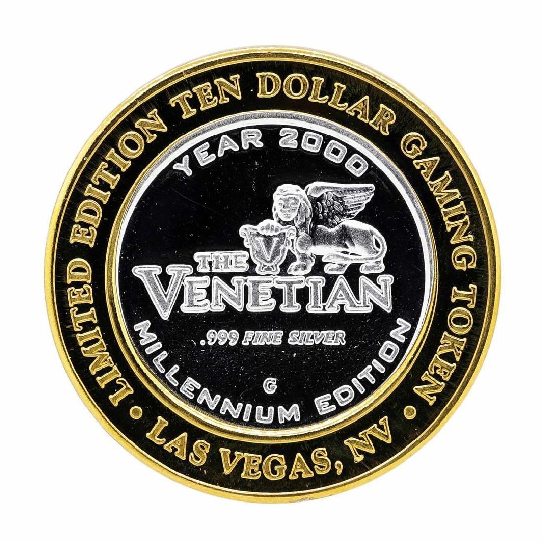 .999 Silver The Venetian Las Vegas Nevada $10 Casino - 2