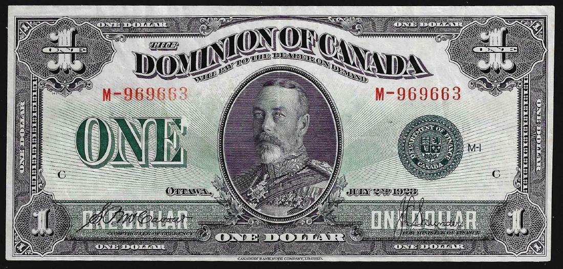1923 $1 Dominion of Canada Note