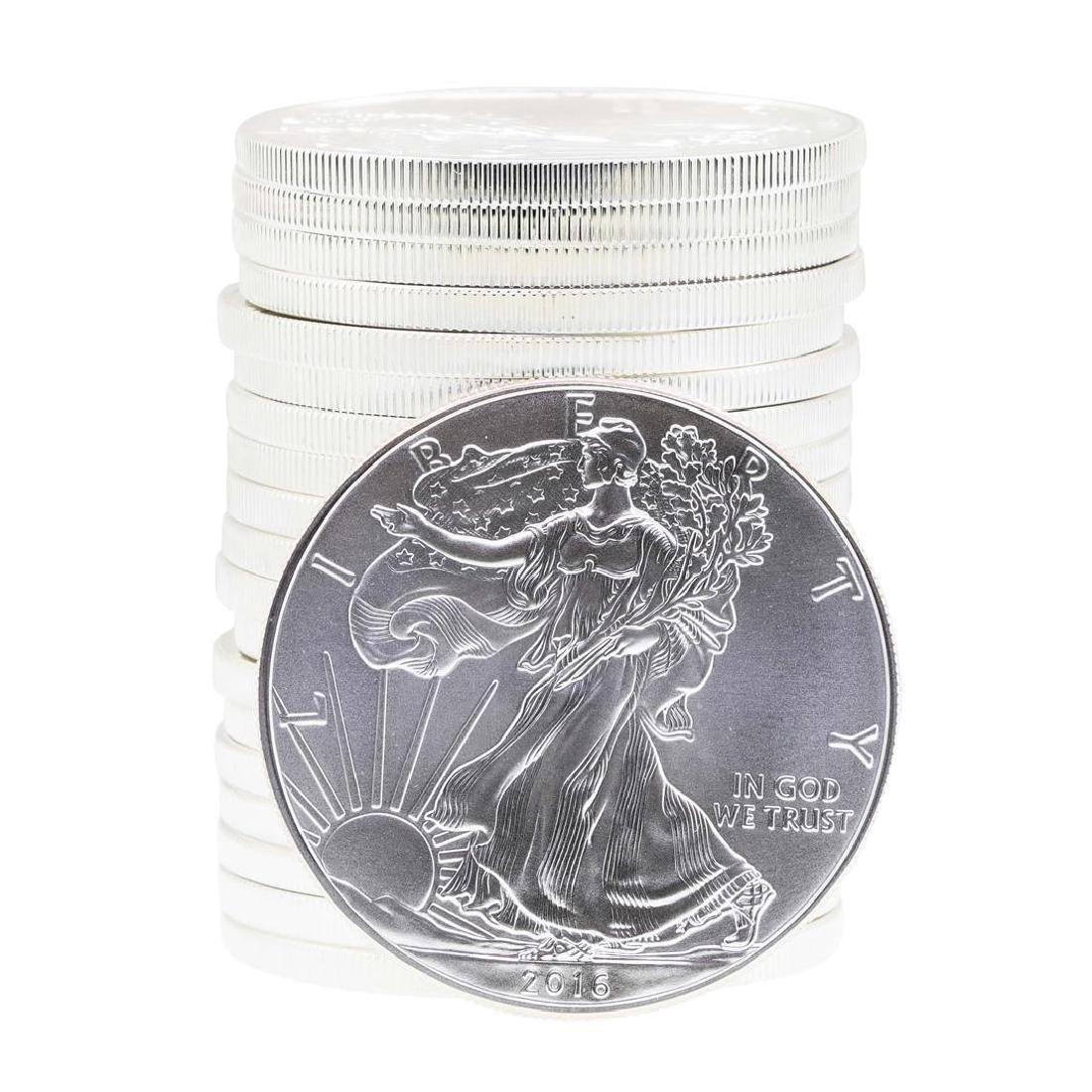 Roll of (20) 2016 $1 American Silver Eagle Brilliant
