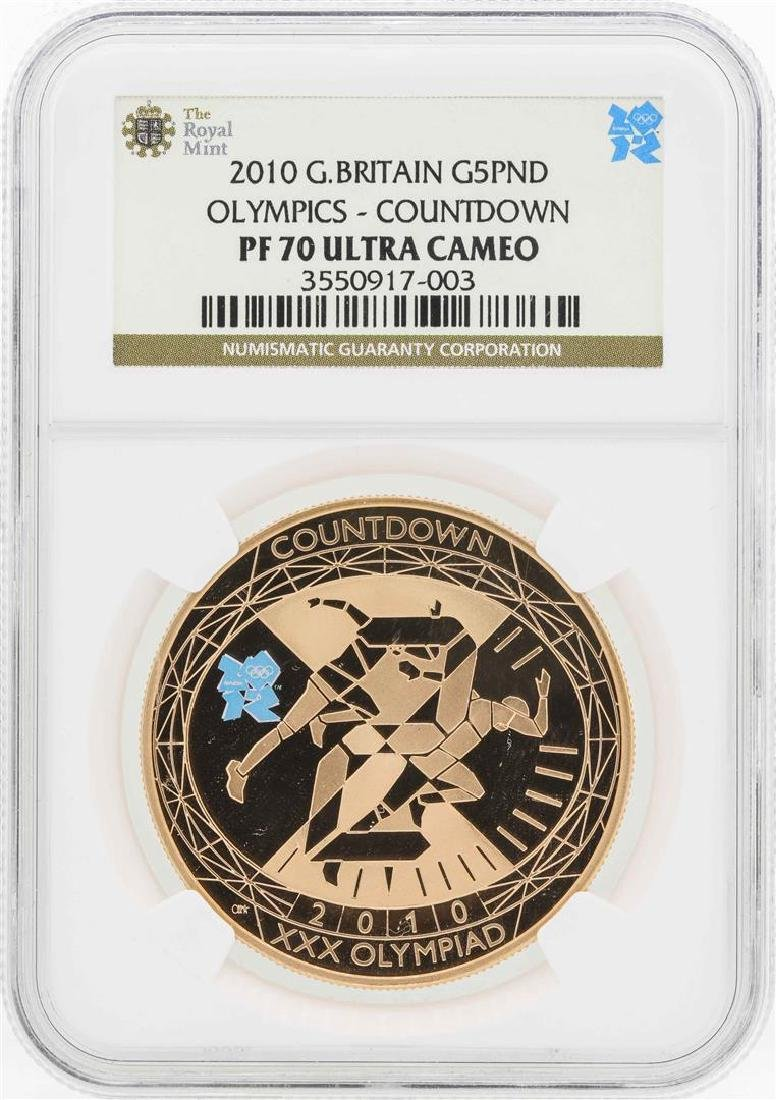 2010 Great Britain 5 Pound Olympics Countdown Gold